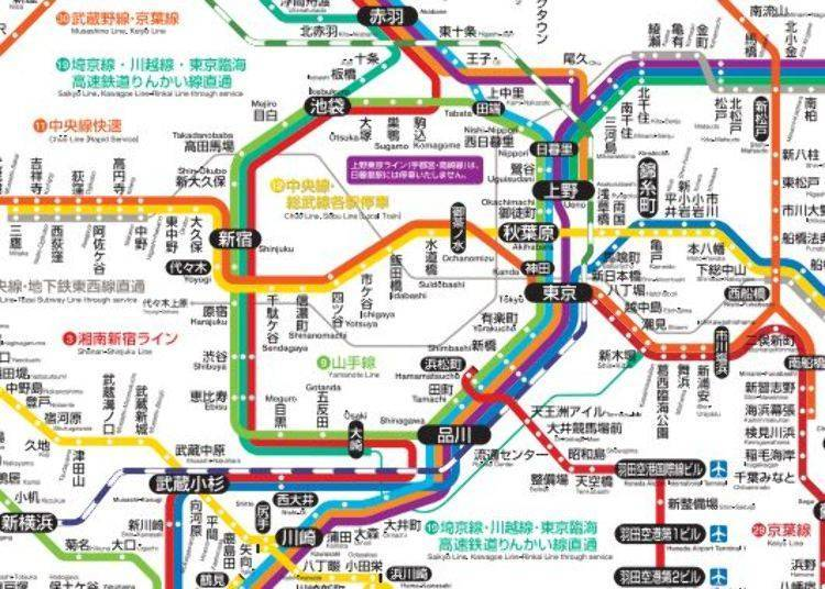 JR East – the Convenient Yamanote Line and Chuo Line