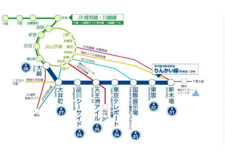 Rinkai Line: Direct Access to Odaiba from Shinjuku