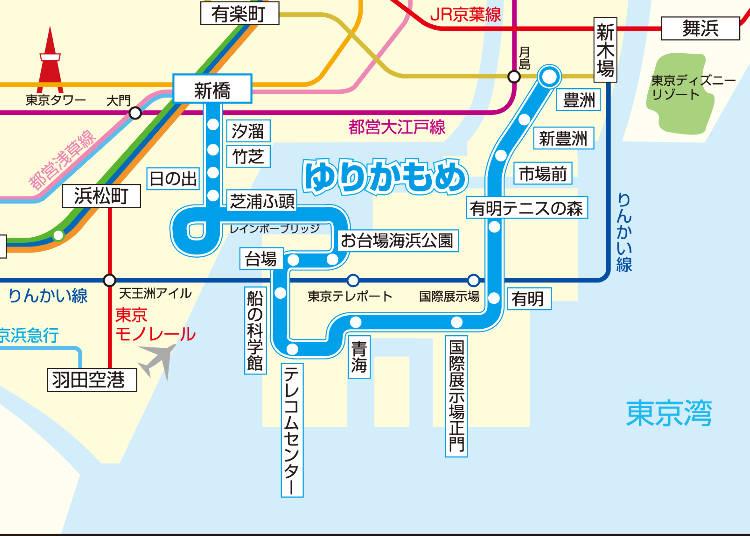 東京臨海高速鉄道りんかい線 路線図 - 鉄道歴史地図