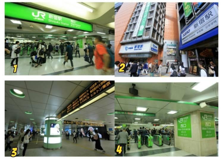 7)請從西口前往家電量販店街和東京都廳方面
