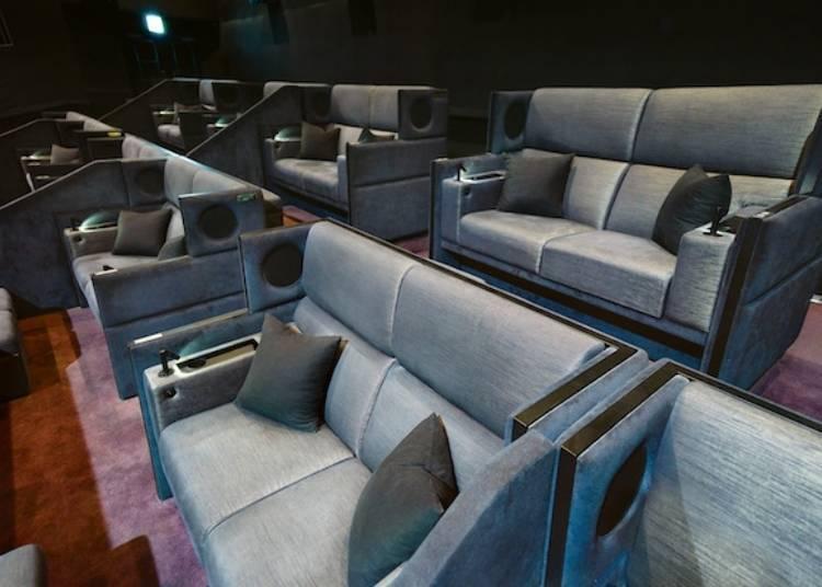 可享用专用贵宾室以及特别餐饮服务的电影观赏座席