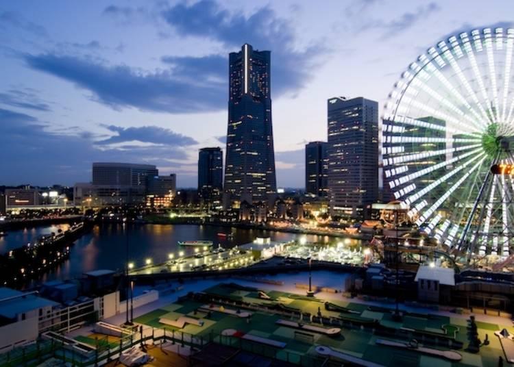 ロマンチックな夜景を一望「横浜ワールドポーターズ ルーフガーデン」