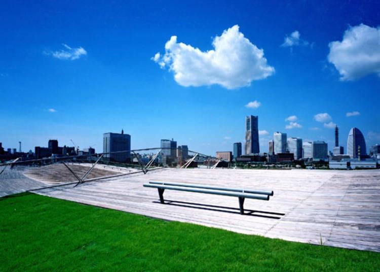"""360°宽广视野的绝景!""""横滨港大栈桥国际客船码头"""""""