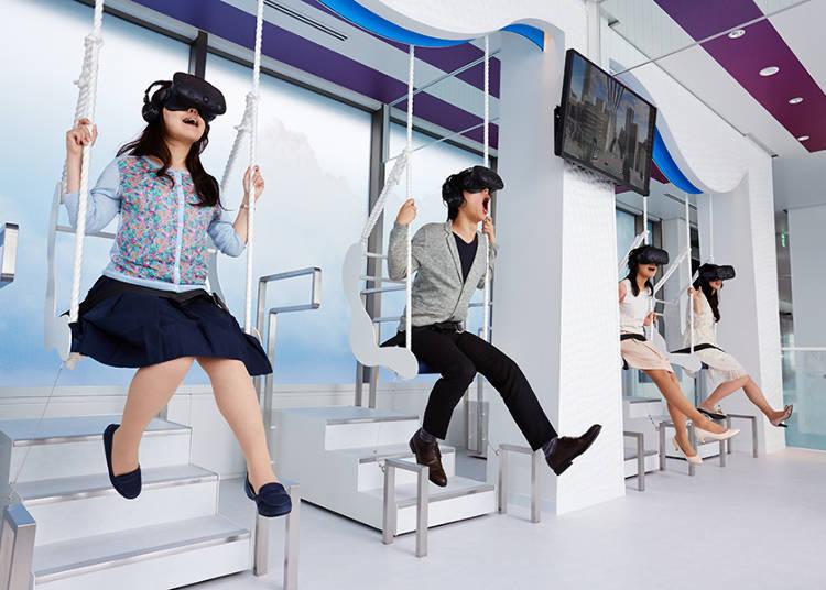在超高層大樓展望台才能體驗得到的VR