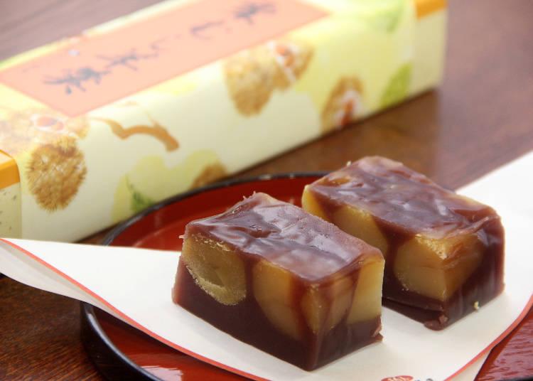"Yokan (วุ้นถั่วแดง) สร้างชื่อ ""Nagomi no Yoneya Sohonten"" ขนมญี่ปุ่นที่ดูสมกับเป็นของฝากจากจังหวัดชิบะก็มีเต็มไปหมด"