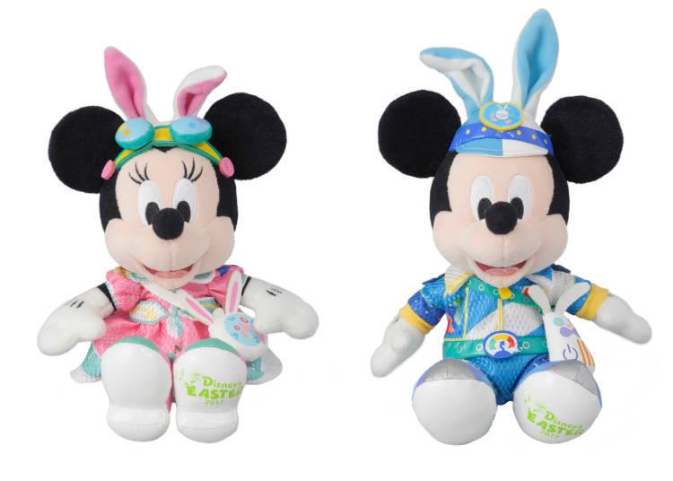 Mickey and Minnie Bunny Ear Plushies