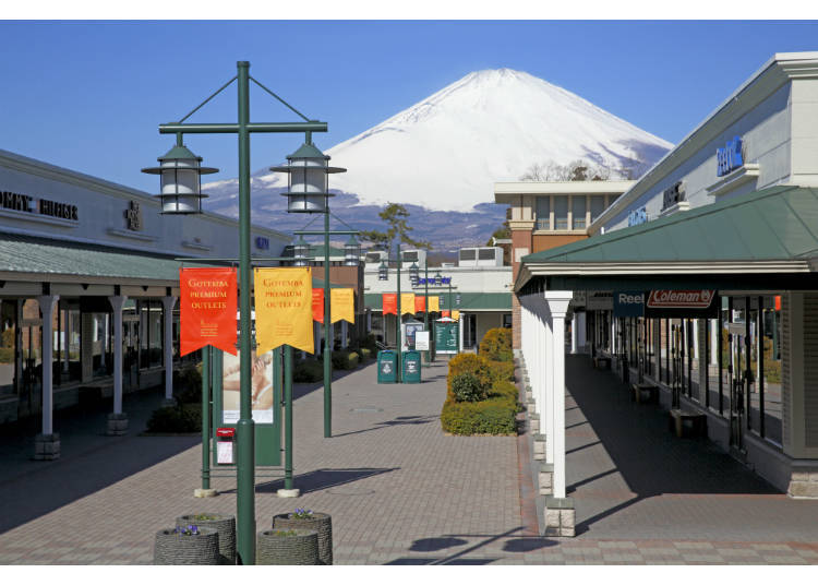 4. Gotemba Premium Outlets: Shop with Mount Fuji Towering Over You!