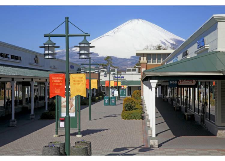 可以看見富士山的御殿場PREMIUM OUTLETS