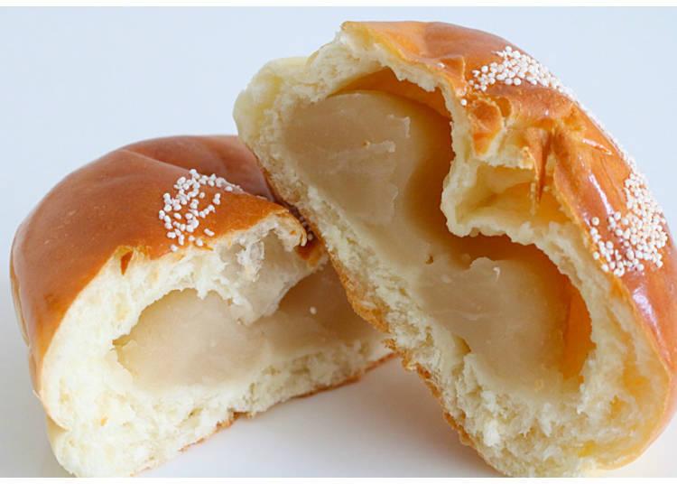 4) Shiro Anpan: White Bean Paste in Soft Bread