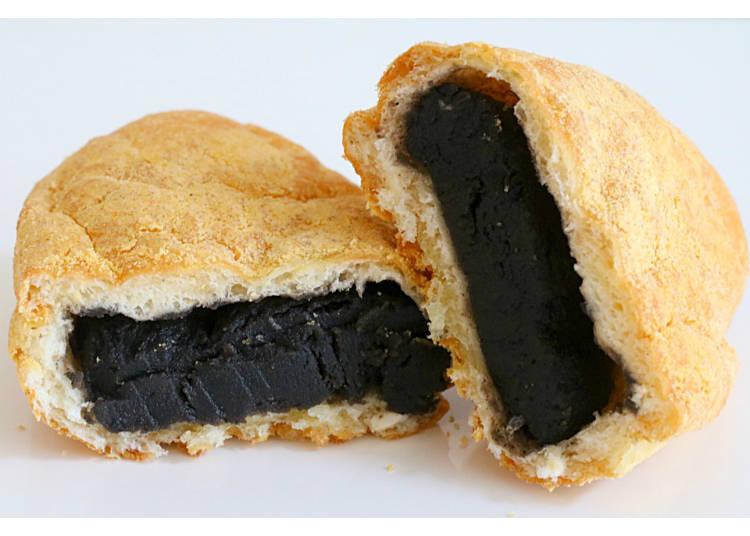 15) Kurogoma Kinako Anpan: Roasted Soybean Flour Marries Black Sesame