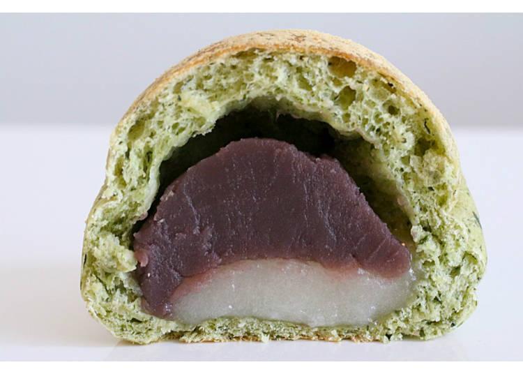 【11】简直就是艾草糯米团子! 【艾草糯米团子馅面包】
