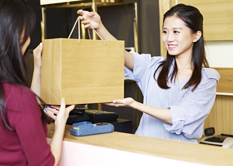2)買東西時會有袋子嗎?可以不要袋子嗎?