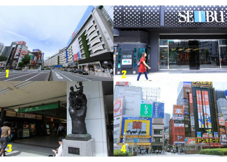 4) What's Around Ikebukuro Station's East Exit?