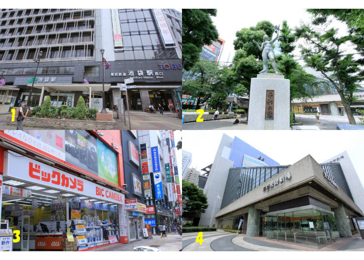 5) What's Around Ikebukuro Station's West Exit?