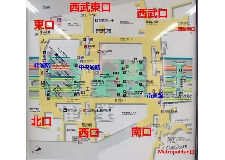 2) 搞懂池袋車站的站內構造