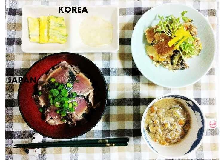 일본인 남편과 함께 만드는 1주일간의 저녁밥상(저녁식사) 메뉴