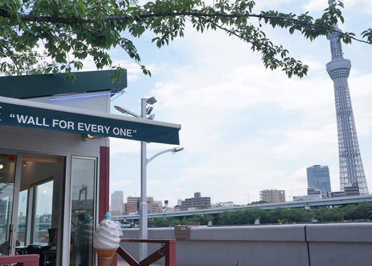 能看到隅田川&電車等風景的絕佳地點「Café W.E」