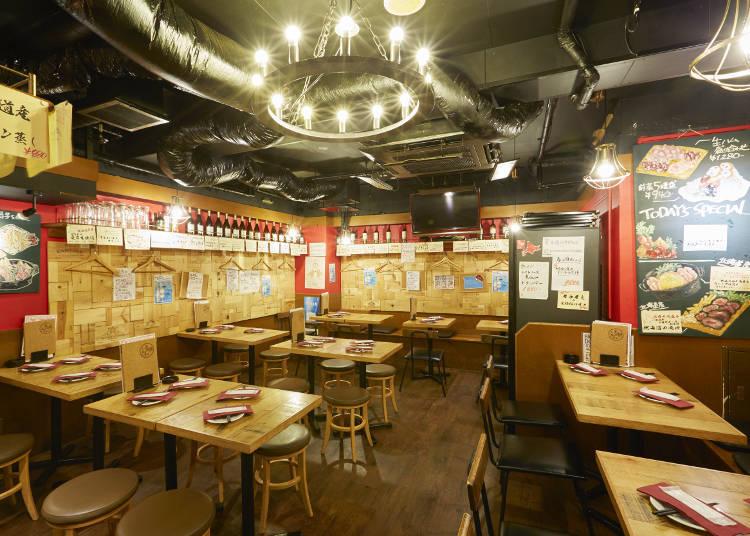 도쿄에서는 드물게 홋카이도의 식재료를 풍부하게 사용한 가게