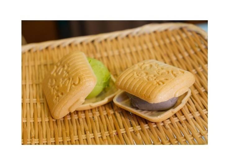 融合日式與西洋的點心「最中冰淇淋」