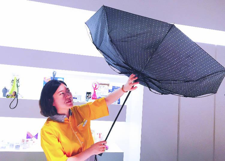 防風速乾摺疊傘