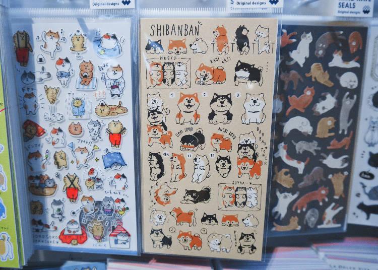 Shiba Inu sticker/しばんばんシール ずらりん