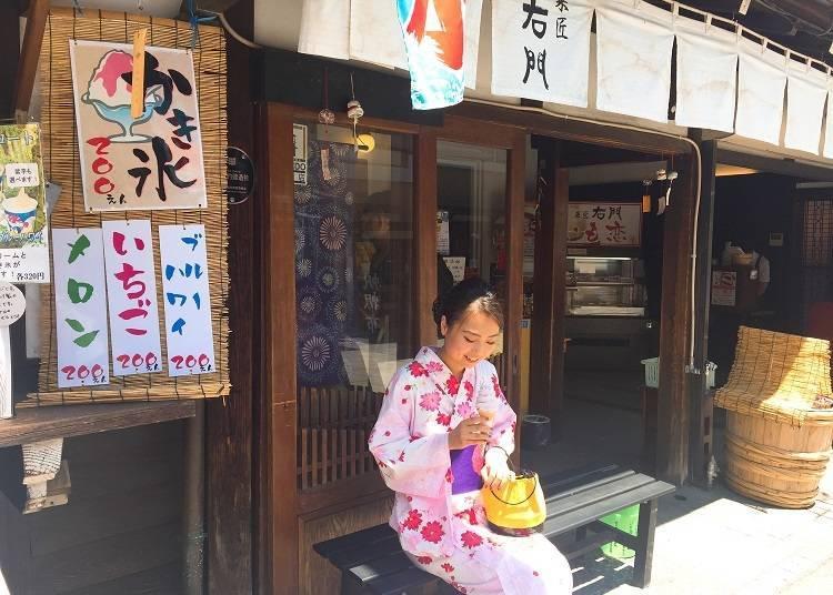 Kashou Umon and its Delicious Purple Sweet Potato Soft Serve