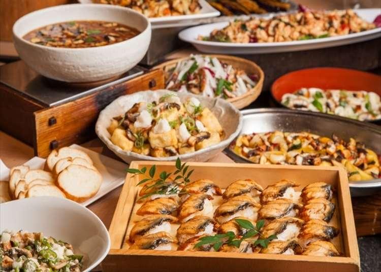 도쿄 우에노의 다양한 우나기(장어) 요리가 맛볼 수 있는 뷔페 레스토랑!