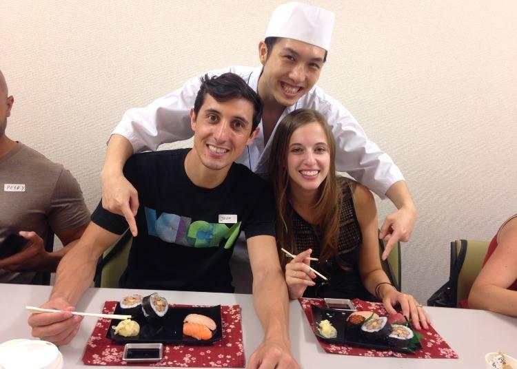 自分で握るからおいしい!寿司手作り体験教室「Tokyo Sushi-Making Tour」