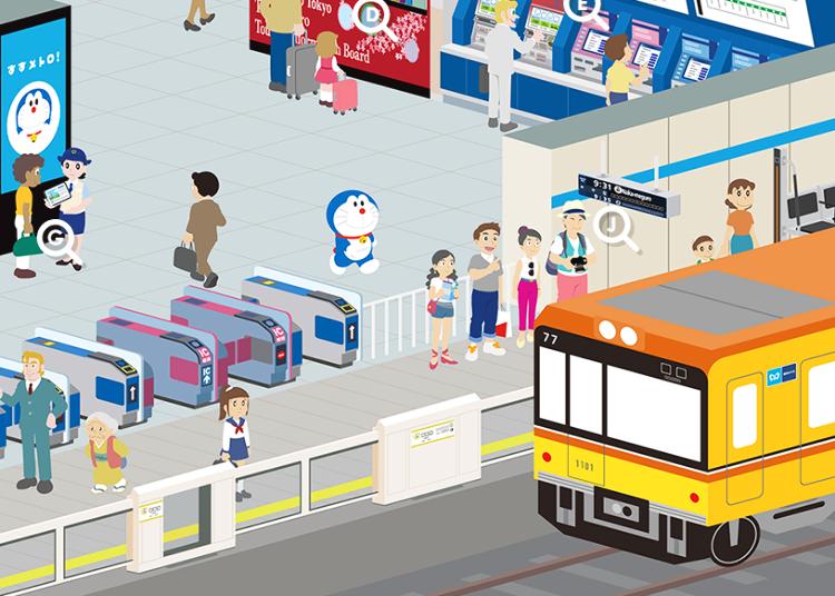 도쿄 지하철 이용시에는 도라에몽이 안내하는 <스스메트로!>를 참고해 보자!