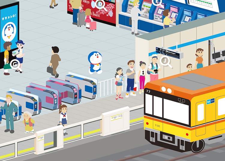 Everyone's Favorite Robot Cat Doraemon Shares About Tokyo's Subway!
