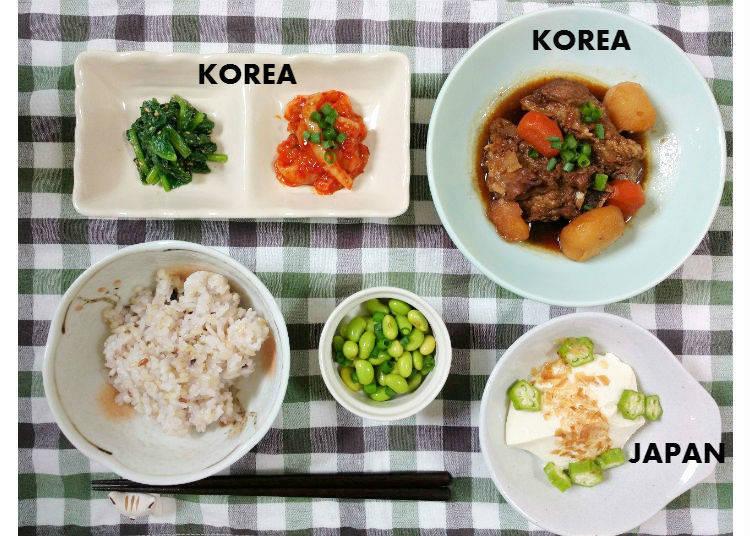 【月曜日】 韓国版肉じゃが、「豚カルビチム」がメイン