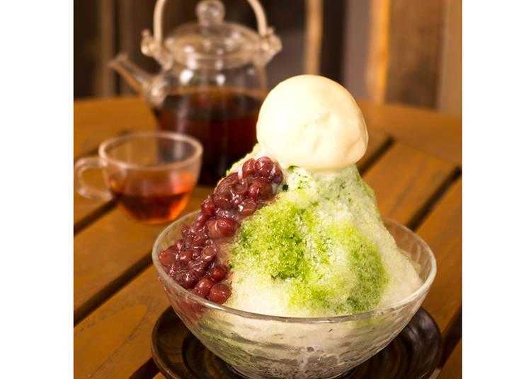 """Chanabe Café Kagurazaka saryo""  มัทฉะสวีทที่ดูดีมีชาติตระกูล  ""น้ำแข็งไส อุจิมัทฉะคินโทกิ"" / shibuya mark city"