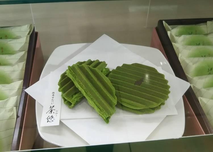 """""""Seikanin"""" สัมผัสถึงรสแท้แห่งชาเขียวได้ในแผ่นเดียว """"เซมเบ้ชาเขียว Sayu"""" / ห้างสรรพสินค้า Odakyu"""