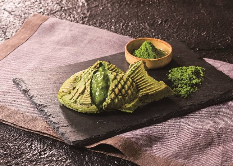 """Gin no An"" ขนมไทยากิไส้คัสตาร์ดรสชาเขียวสุดพิเศษที่มีขายเฉพาะที่โซระมะจิเท่านั้น  ""ไทยากิไส้คัสตาร์ดรสชาเขียว"" / โตเกียวโซระมะจิ"