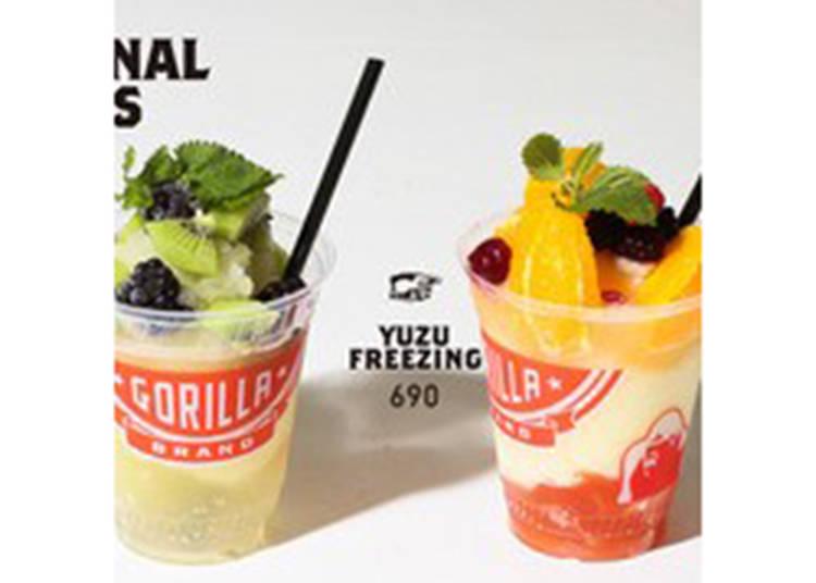 【GORILLA COFFEE】 本場ニューヨークの味を体感「GREENFREEZING /YUZUFEREEZING」/Esola池袋