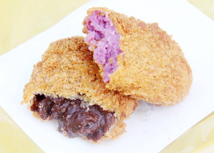 食べ歩きグルメ 1)チョコレート入りもある‼ 「元祖鎌倉コロッケ鳥小屋」の揚げたてコロッケ
