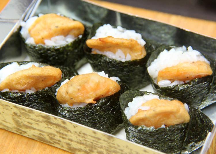 【當地美食帶著走】酥脆的炸蝦天婦羅好好吃!「鐮倉Haikaramusubi TENMUSUYA」的天婦羅飯糰