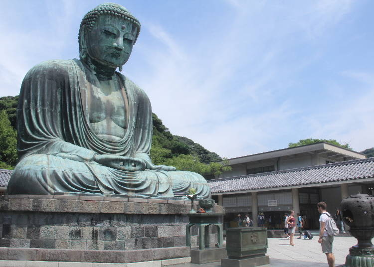 2) Kotoku-in Temple and The Great Buddha of Kamakura: Admiring the Ancient Bronze Statue from the Outside and the Inside