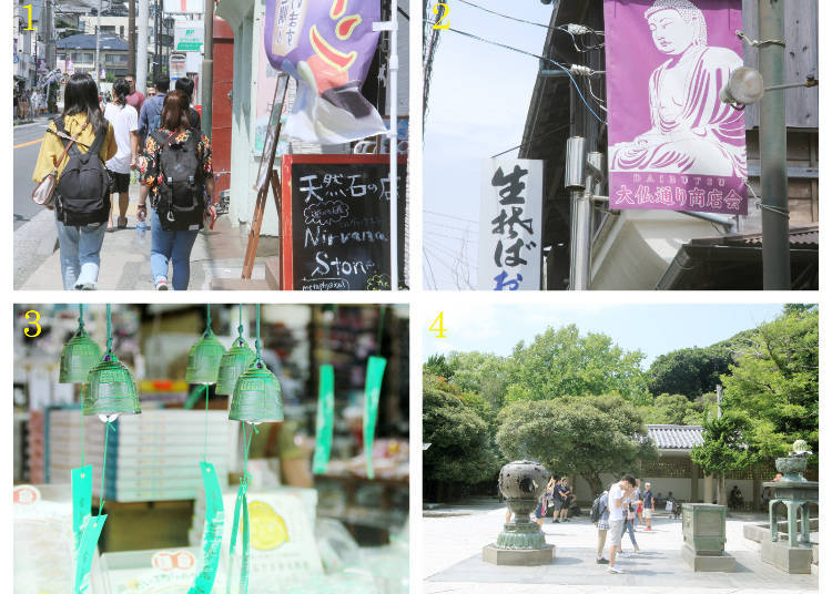 The Sightseeing Route Part 2: Hase-dera Temple → Kotoku-in Temple and the Great Buddha of Kamakura → Hase Station