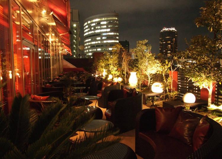 「FRANZUYA」戶外開放座位,美麗夜景盡收眼底