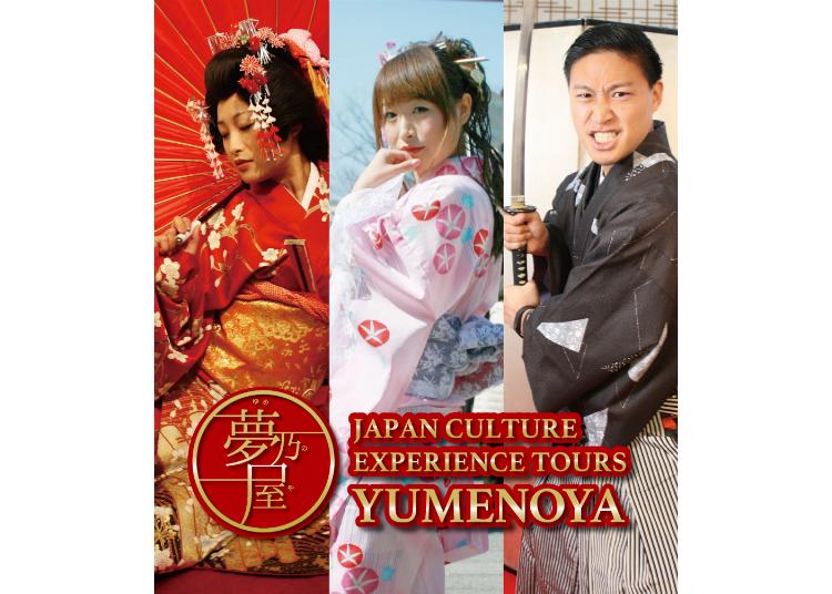 Japan Culture Experience Tour Yumenoya: Be a Geisha or Samurai for a Day!