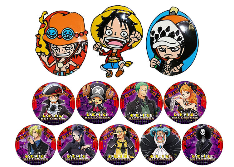 Make Spooky Charms and Stickers Of Luffy and His Friends!