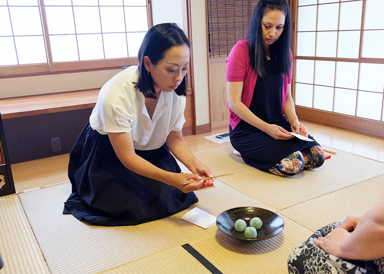 Tasting Traditional Sweets: Elemental part of Japanese tea ceremony