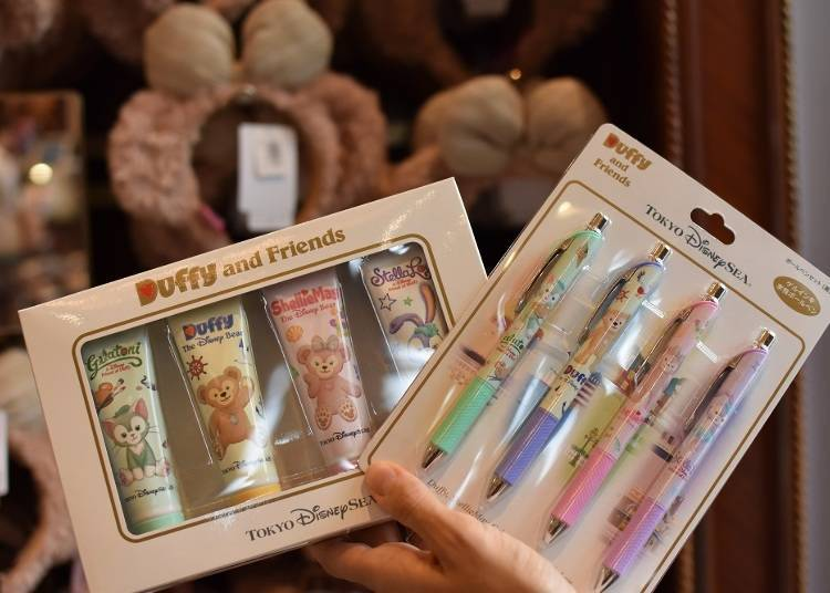 Duffy and Friends Ball Pens and Hand Cream, Sets of Four