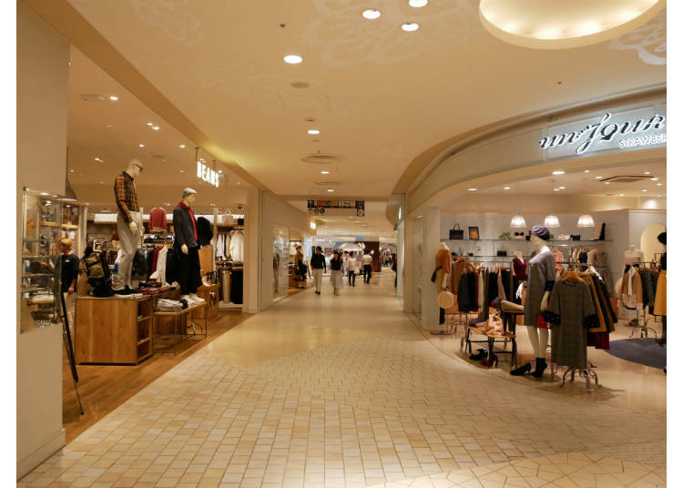 2nd Floor: The Food Market, Ladies' Fashion, and Miscellaneous Goods