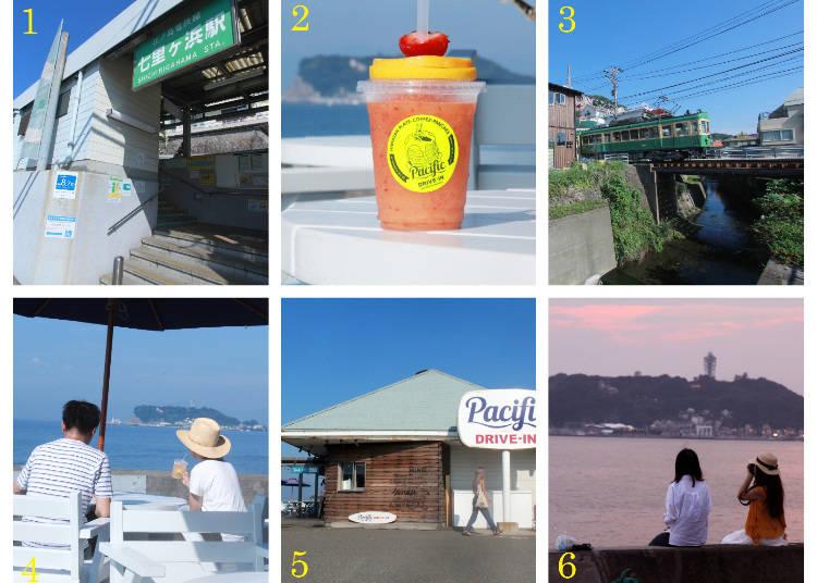 街歩きルートガイド2:七里ヶ浜駅→七高通り→パシフィックドライブイン