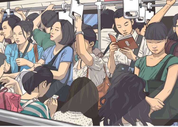10 Helpful Tips for Riding in Crowded Rush Hour Trains—from the Japanese People Themselves