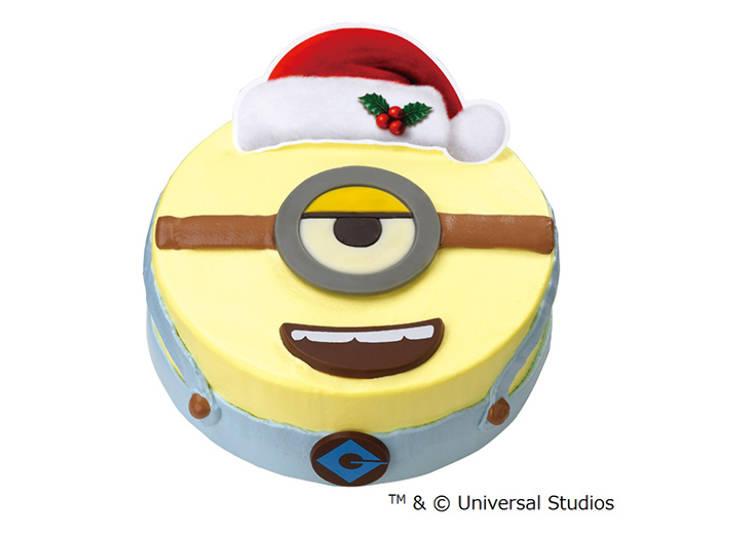 """""""ミニオン""""の顔をまるごとクリスマスケーキに!/サーティワン アイスクリーム"""