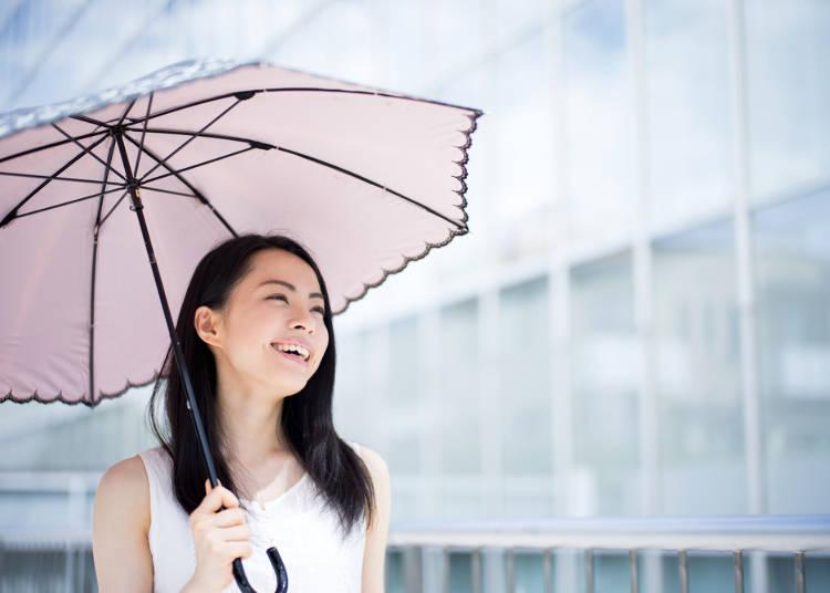 2.日焼けは悪いこと?日傘をさしている人がすごく多い