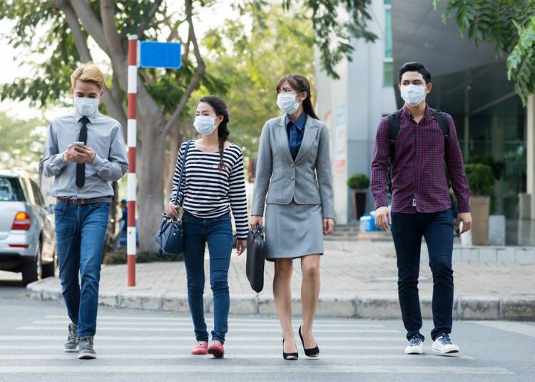 5.街中で「マスク」をしている人を見て、びっくり! 街は重病人だらけ?